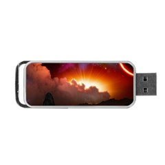 Red Fantasy Portable Usb Flash (two Sides) by Onesevenart