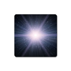 Real Photographs In Saturns Rings Square Magnet by Onesevenart