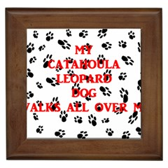 My Catahoula Walks On Me Framed Tiles by TailWags