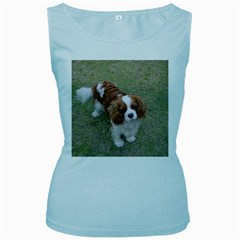 Cavalier King Charles Spaniel Blenheim Full Women s Baby Blue Tank Top by TailWags