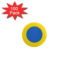 Ukrainian Air Force Roundel 1  Mini Magnets (100 Pack)
