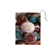 Rain Flower Stones Is A Special Type Of Stone Drawstring Pouches (small)  by Onesevenart