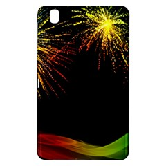 Rainbow Fireworks Celebration Colorful Abstract Samsung Galaxy Tab Pro 8 4 Hardshell Case by Onesevenart