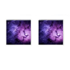 Purple Space Cufflinks (square) by Onesevenart