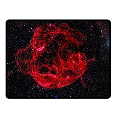 Red Nebulae Stella Fleece Blanket (small) by Onesevenart