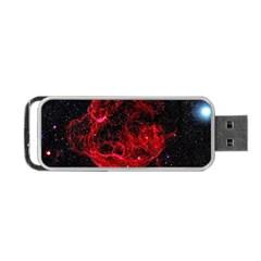 Red Nebulae Stella Portable Usb Flash (one Side) by Onesevenart