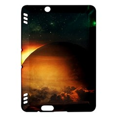Saturn Rings Fantasy Art Digital Kindle Fire Hdx Hardshell Case by Onesevenart