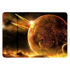 Sci Fi Planet Samsung Galaxy Tab 8 9  P7300 Flip Case by Onesevenart