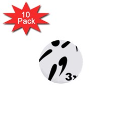 3 On 3 Basketball Pictogram 1  Mini Buttons (10 Pack)  by abbeyz71