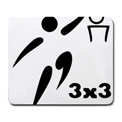 3 On 3 Basketball Pictogram Large Mousepads by abbeyz71