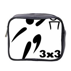 3 On 3 Basketball Pictogram Mini Toiletries Bag 2 Side by abbeyz71