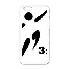 3 On 3 Basketball Pictogram Apple Iphone 6/6s White Enamel Case by abbeyz71