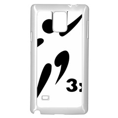 3 On 3 Basketball Pictogram Samsung Galaxy Note 4 Case (white) by abbeyz71
