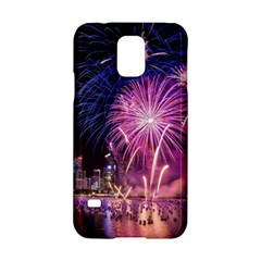 Singapore New Years Eve Holiday Fireworks City At Night Samsung Galaxy S5 Hardshell Case  by Onesevenart