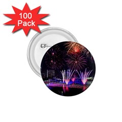 Singapore The Happy New Year Hotel Celebration Laser Light Fireworks Marina Bay 1 75  Buttons (100 Pack)  by Onesevenart
