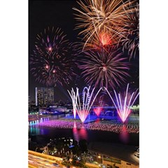 Singapore The Happy New Year Hotel Celebration Laser Light Fireworks Marina Bay 5 5  X 8 5  Notebooks by Onesevenart