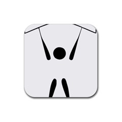 Air Sports Pictogram Rubber Square Coaster (4 Pack)  by abbeyz71