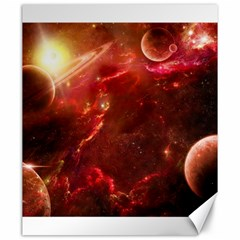 Space Red Canvas 20  X 24   by Onesevenart