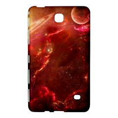 Space Red Samsung Galaxy Tab 4 (7 ) Hardshell Case  by Onesevenart