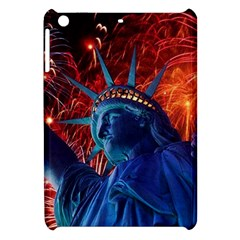 Statue Of Liberty Fireworks At Night United States Of America Apple Ipad Mini Hardshell Case by Onesevenart