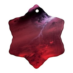 Storm Clouds And Rain Molten Iron May Be Common Occurrences Of Failed Stars Known As Brown Dwarfs Snowflake Ornament (two Sides) by Onesevenart