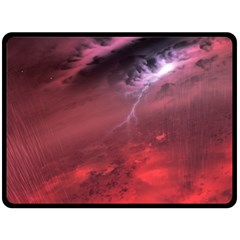 Storm Clouds And Rain Molten Iron May Be Common Occurrences Of Failed Stars Known As Brown Dwarfs Double Sided Fleece Blanket (large)  by Onesevenart