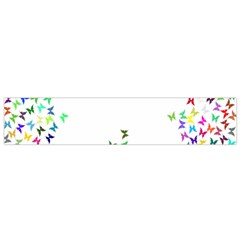 Prismatic Negative Space Butterflies Flano Scarf (small) by AnjaniArt