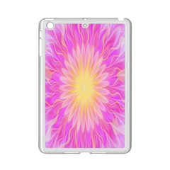 Round Bright Pink Flower Floral Ipad Mini 2 Enamel Coated Cases by AnjaniArt