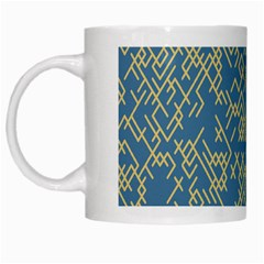 Random Blie Yellow White Mugs