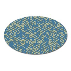 Random Blie Yellow Oval Magnet by AnjaniArt