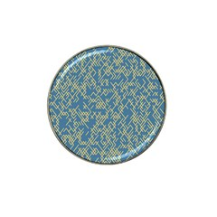 Random Blie Yellow Hat Clip Ball Marker (4 Pack) by AnjaniArt