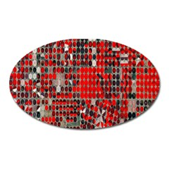 Red Circle Oval Magnet