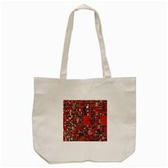 Red Circle Tote Bag (cream)