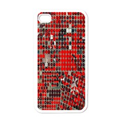 Red Circle Apple Iphone 4 Case (white) by AnjaniArt