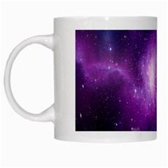 Galaxy Space Purple White Mugs