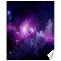 Galaxy Space Purple Canvas 16  X 20   by AnjaniArt