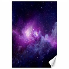Galaxy Space Purple Canvas 24  X 36  by AnjaniArt
