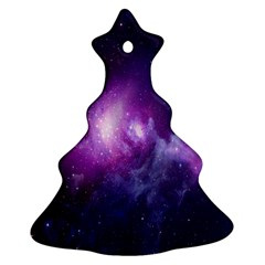 Galaxy Space Purple Christmas Tree Ornament (two Sides) by AnjaniArt