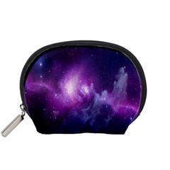 Galaxy Space Purple Accessory Pouches (small)  by AnjaniArt