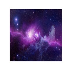 Galaxy Space Purple Small Satin Scarf (square) by AnjaniArt