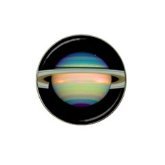 True Color Variety Of The Planet Saturn Hat Clip Ball Marker by Onesevenart