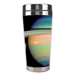 True Color Variety Of The Planet Saturn Stainless Steel Travel Tumblers by Onesevenart