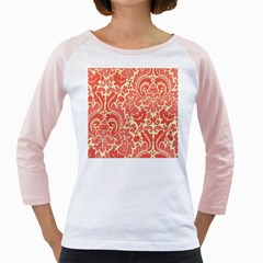 Red Floral Girly Raglans