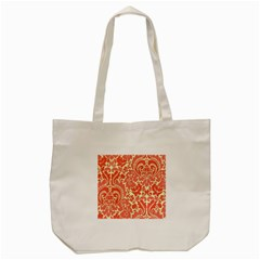 Red Floral Tote Bag (cream)