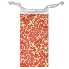 Red Floral Jewelry Bag