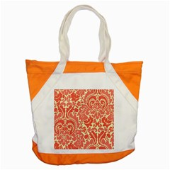 Red Floral Accent Tote Bag