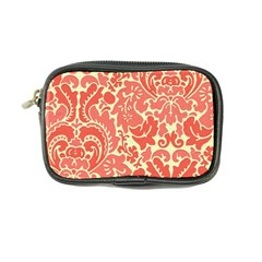 Red Floral Coin Purse by AnjaniArt