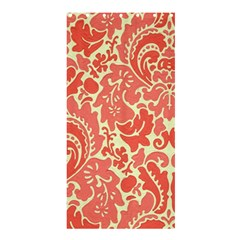Red Floral Shower Curtain 36  X 72  (stall)  by AnjaniArt