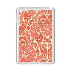 Red Floral Ipad Mini 2 Enamel Coated Cases by AnjaniArt