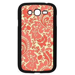 Red Floral Samsung Galaxy Grand Duos I9082 Case (black) by AnjaniArt